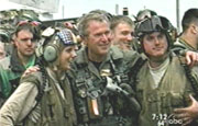 President Bush on the USS Abraham Lincoln