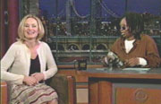 Guest host Whoopi Goldberg interviewing Jessica Lange