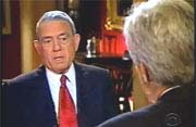 Dan Rather interviewing John Kerry
