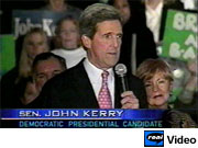 Democratic candidate John Kerry