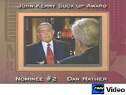 CBS's Dan Rather interviewing John F. Kerry