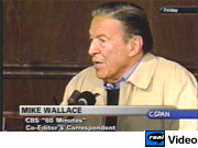 CBS correspondent Mike Wallace